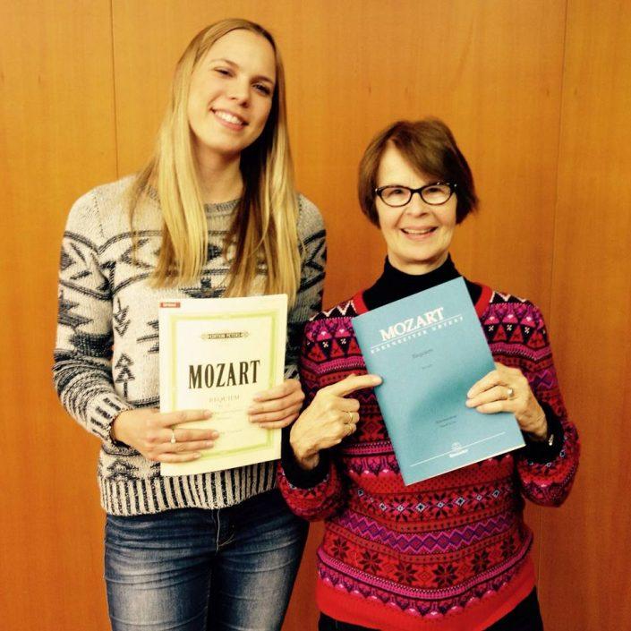 Probenbeginn Mozart Requiem 2016